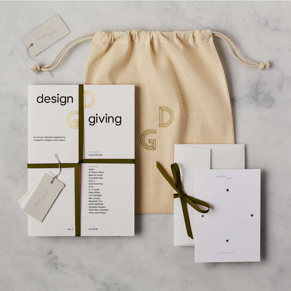 Design Giving Magazine Issue 1 + Canvas Bag