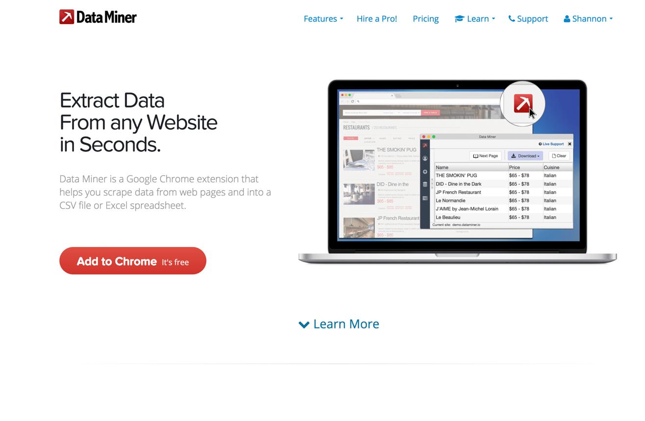 DataMiner Home Page Clip Shannon Corbett Myers shannoncorbettmyers.com.jpg