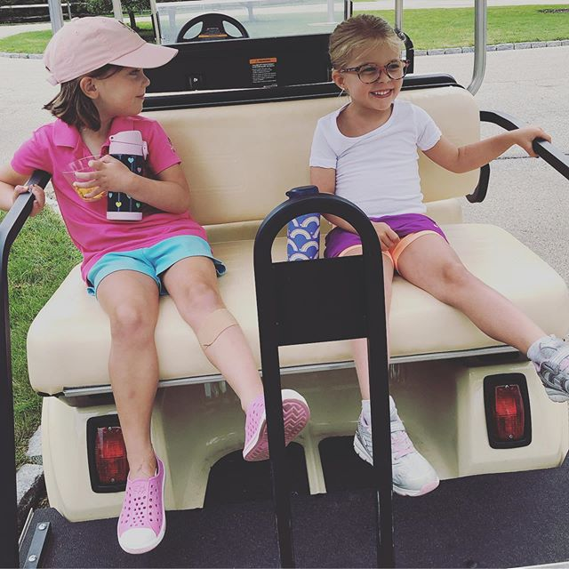 Golf made even more fun when one of your new camp besties hops on board. @pcc1854