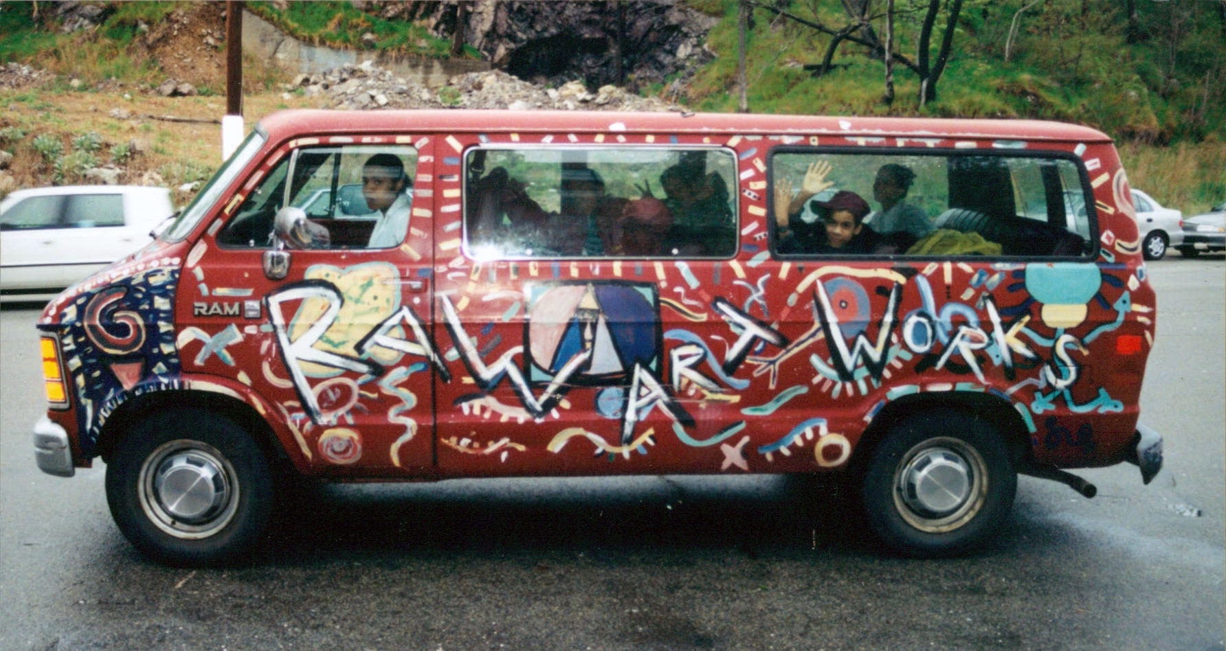 RAW van, painted in 1994 by the first group of RAW kids.