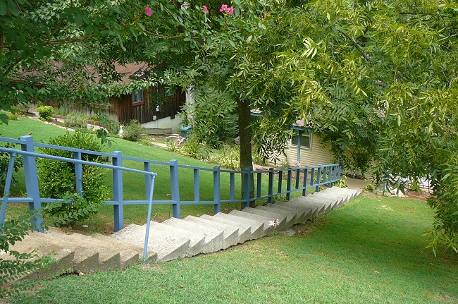 Handrails - New handrails built and painted