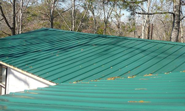 Metal roof installed