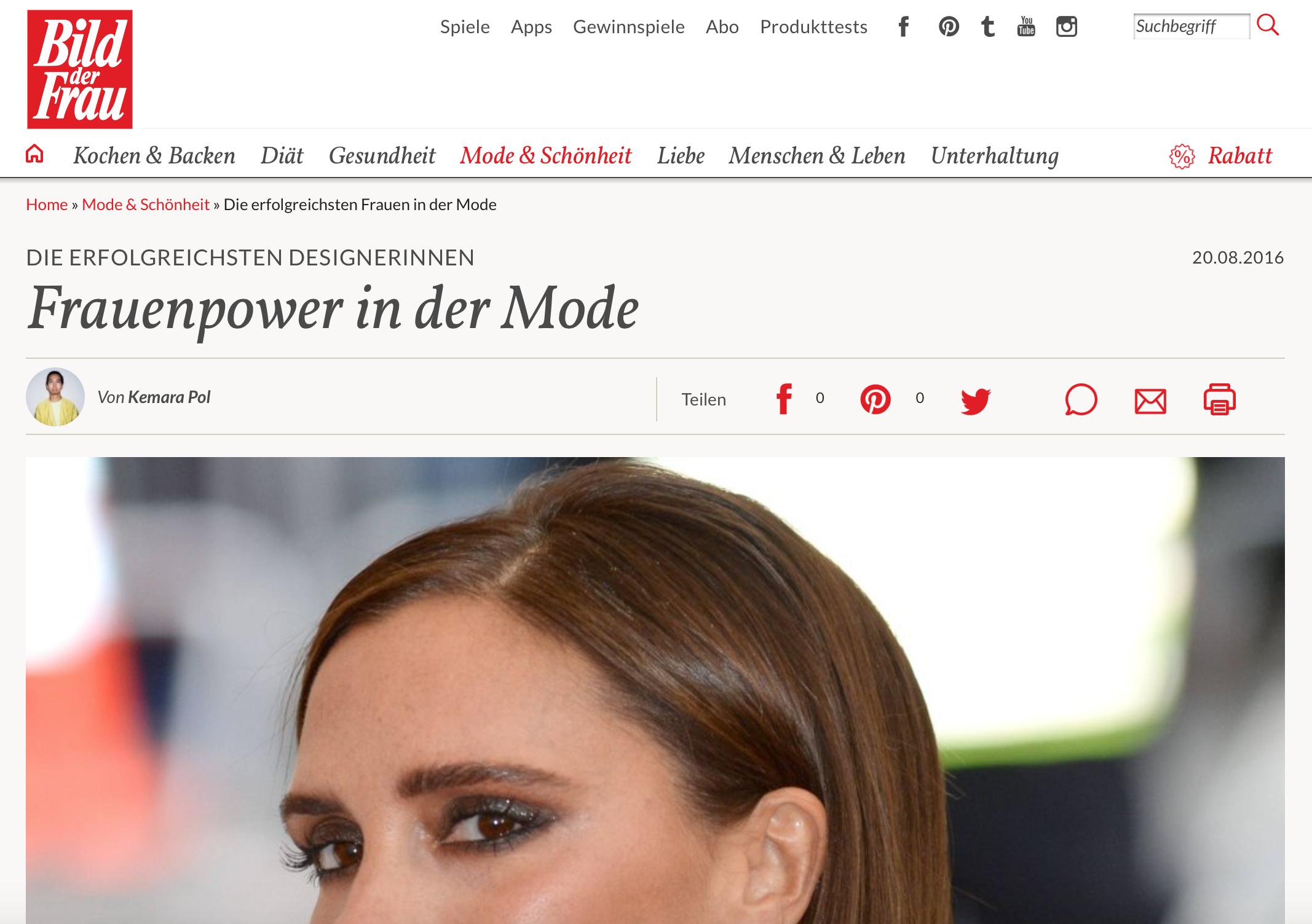 Bild der Frau - Die erfolgreichsten Designerinnen - Frauenpower in der Mode