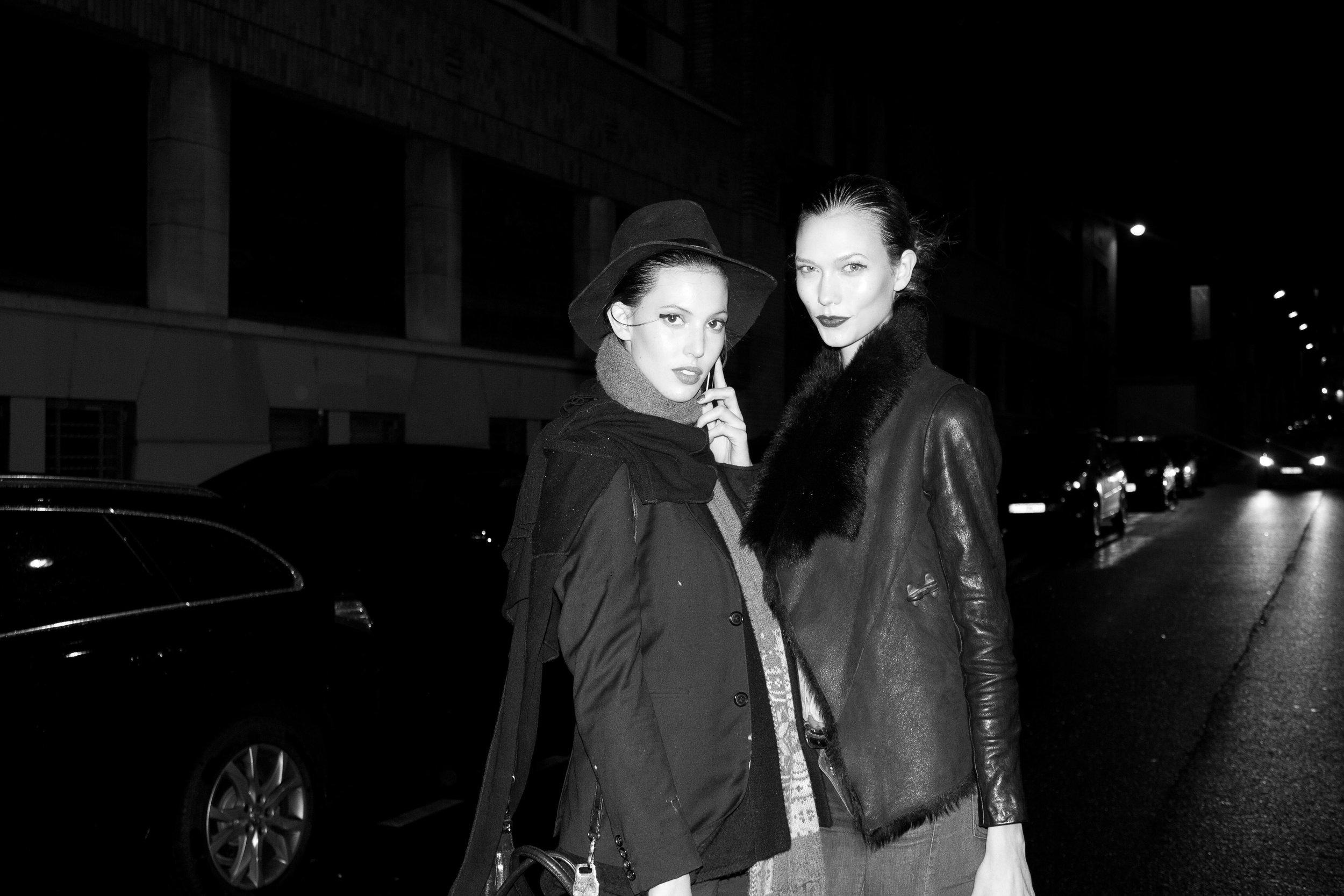 Ruby Aldrige & Karlie Kloss at Paris Fashion Week by Kemara Pol