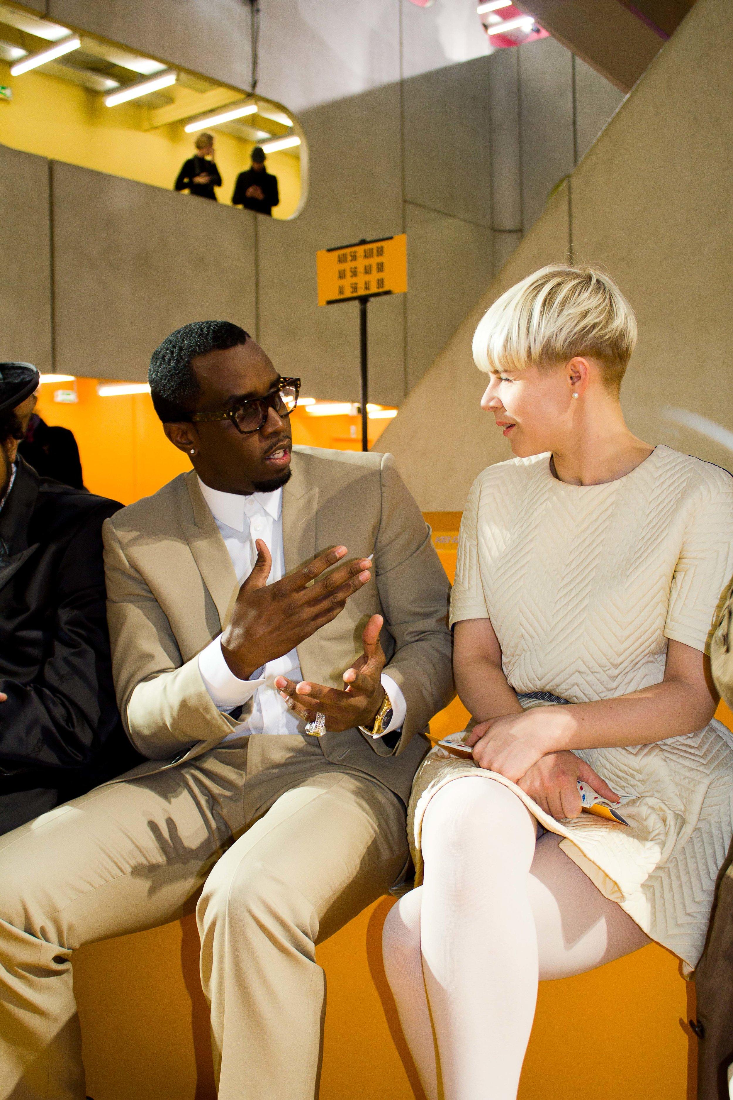 P Diddy & Robyn at Kenzo Paris Fashion Week, Portrait, Kemara Pol, Humberto, Lim, Opening Ceremony,