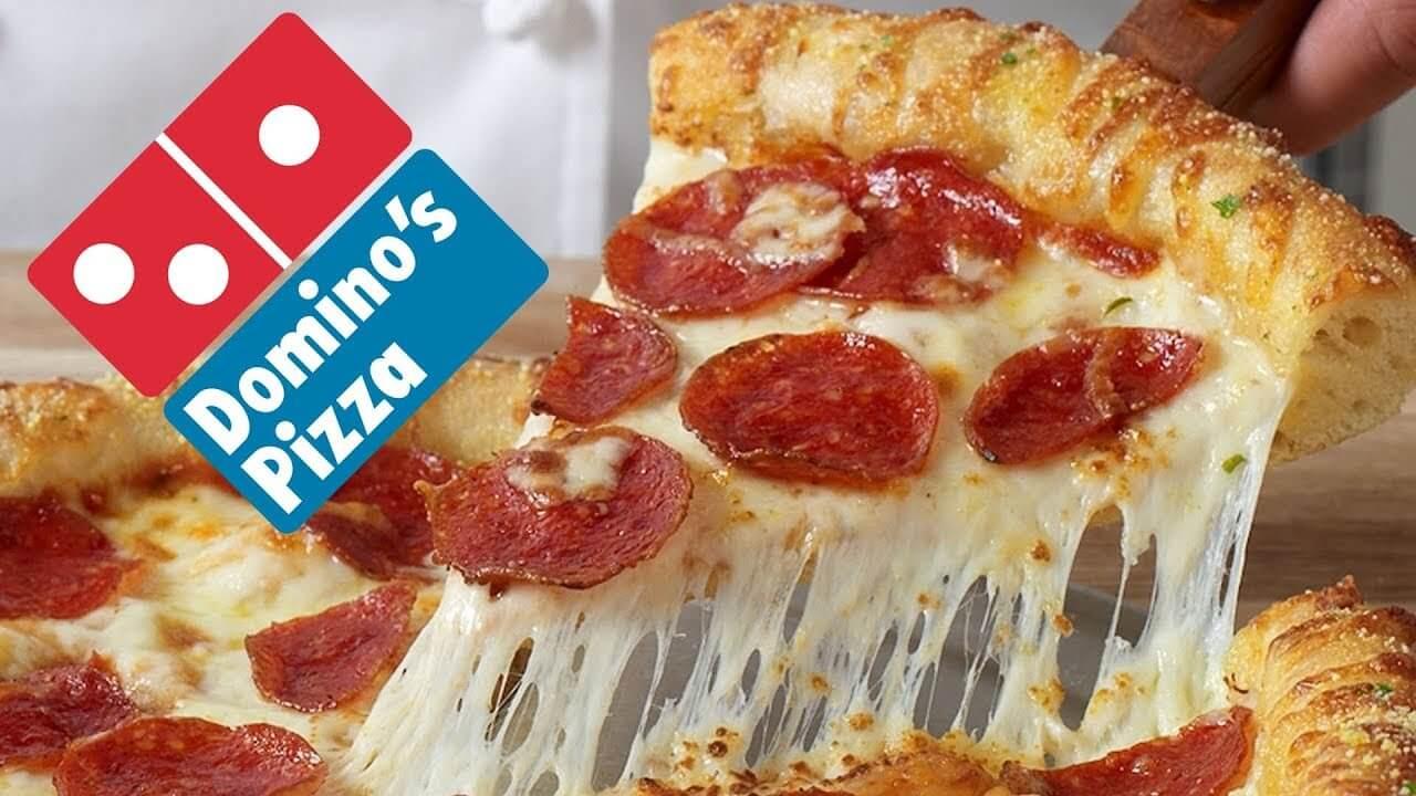 Slice of Dominos Pizza