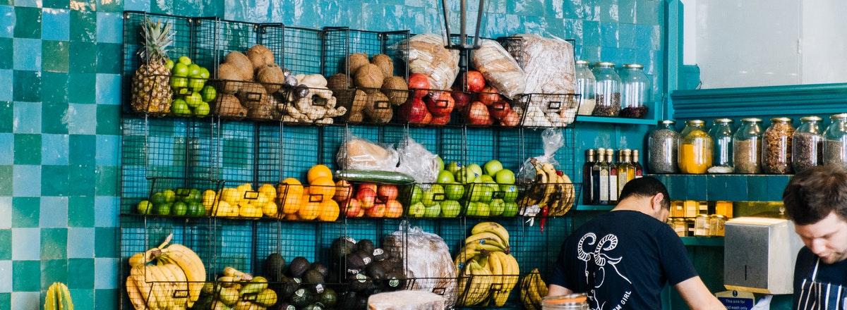 Restaurant displaying fruit