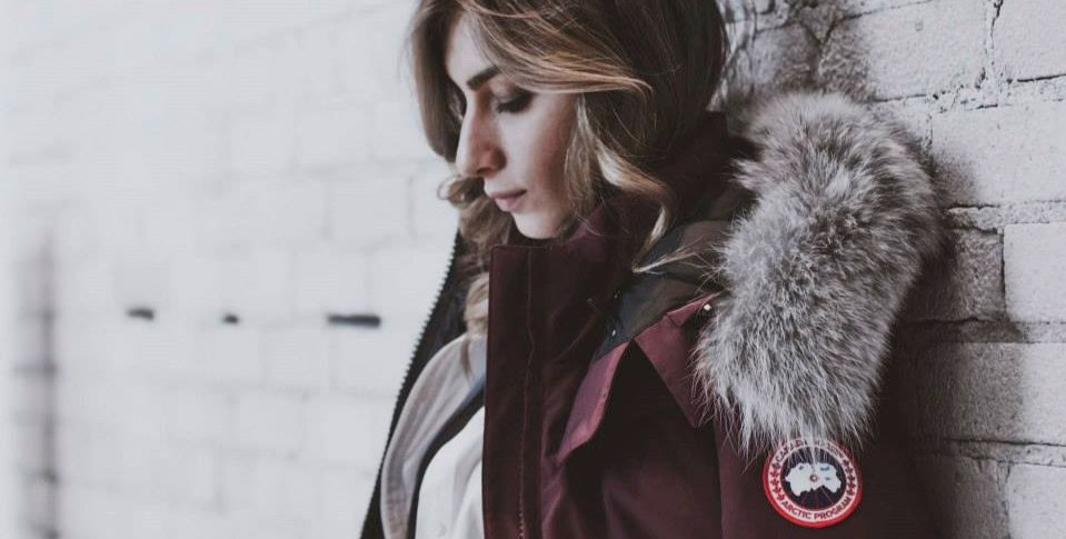 Woman wearing Canada Goose jacket