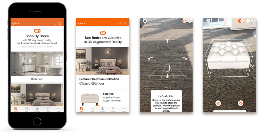 Home Depot's Augmented Reality Functionality in its Mobile App