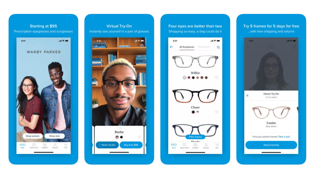 Warby Parker's Augmented Reality Functionality in Its Mobile App