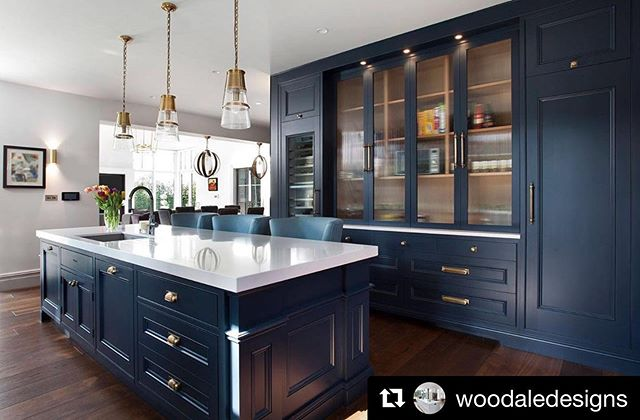 A recent kitchen we just completed in collaboration with  @woodaledesigns  Floor to ceiling bi fold larder storage with integrated wine cooler storage.  #repost