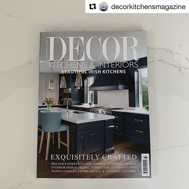Great to see our project featured on the front of @decorkitchensmagazine. This Kitchen was designed in collaboration with @woodaledesigns. Interiors @studiobrazilinteriors  #Repost @decorkitchensmagazine ・・・ Weekend reading sorted! New issue of Decor is now on sale across Ireland.