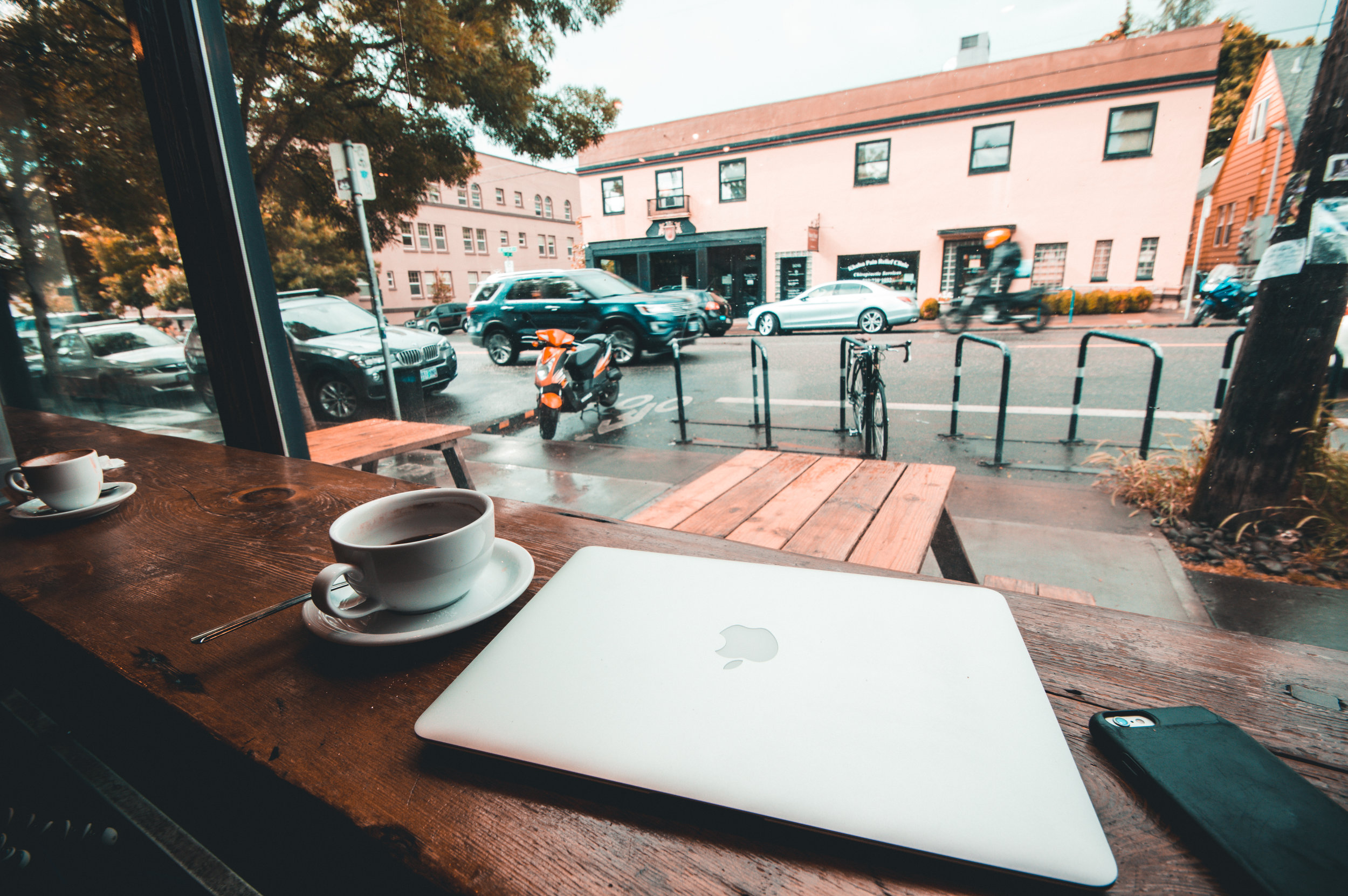 This photo was taken in a coffee shop somewhere in Portland after Huy Lam and I had been walking for miles in the rain (I know classic Portland). I love this shot because its sums up my summer pretty well. I've got coffee, my phone, my laptop and I'm in a place that isn't home. This summer I was on the road a lot and it definitely took it's toll on me.