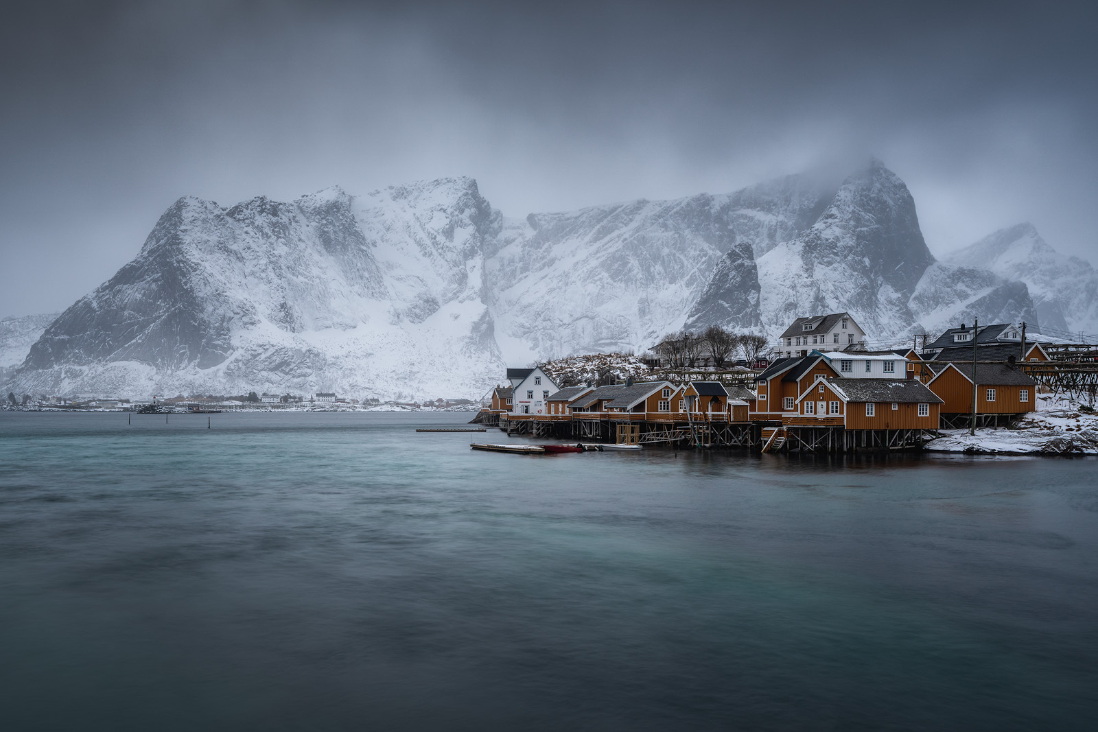 Sakrisøy is one of many iconic islands found throughout the majestic Lofoten Islands, Norway.
