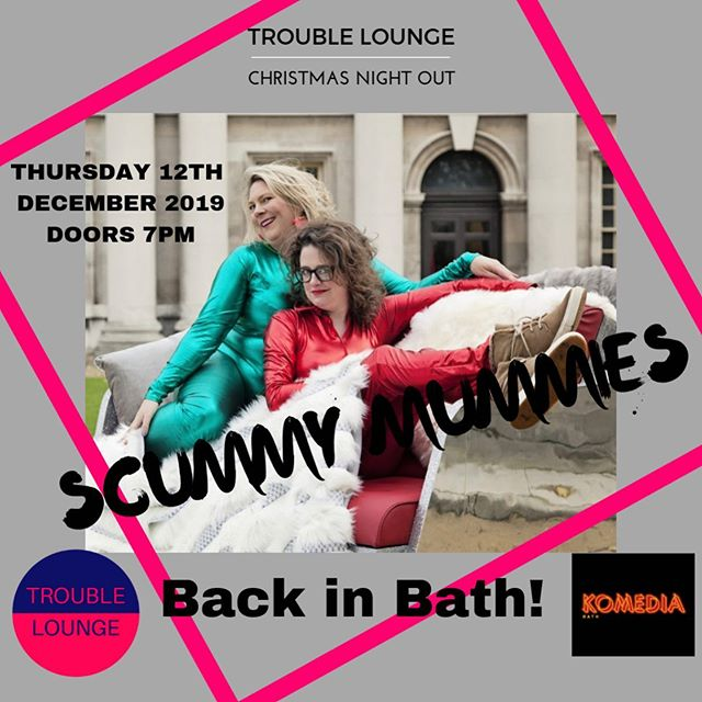 💥BOOK YOUR CHRISTMAS PARTY 💥👊🏼🍷👑🥂🍾 @scummymummies are back in Bath & after a super 5 ⭐️ Edinburgh fringe festival 👌🏻 YOU Won't want to miss this pant wetting evening out 🍾Tickets to the #scummymummieschristmasshow at @komedia_bath are LIVE ! Click link in bio 👆GO GO GO!! Be super quick as tickets are already flying out !!! Thanking you 🙏 Sarah & Kate 💋💋 . #scummymummies #outout #mumsnightout #eventsinbath #whattodoinbath #christmaspartytime #troublelounge #scummyconfessions #komediabath #visitbath #womenincomedy #helenandellie #scummiestmummyinbath 💥⭐️🥂🍷👊🏼