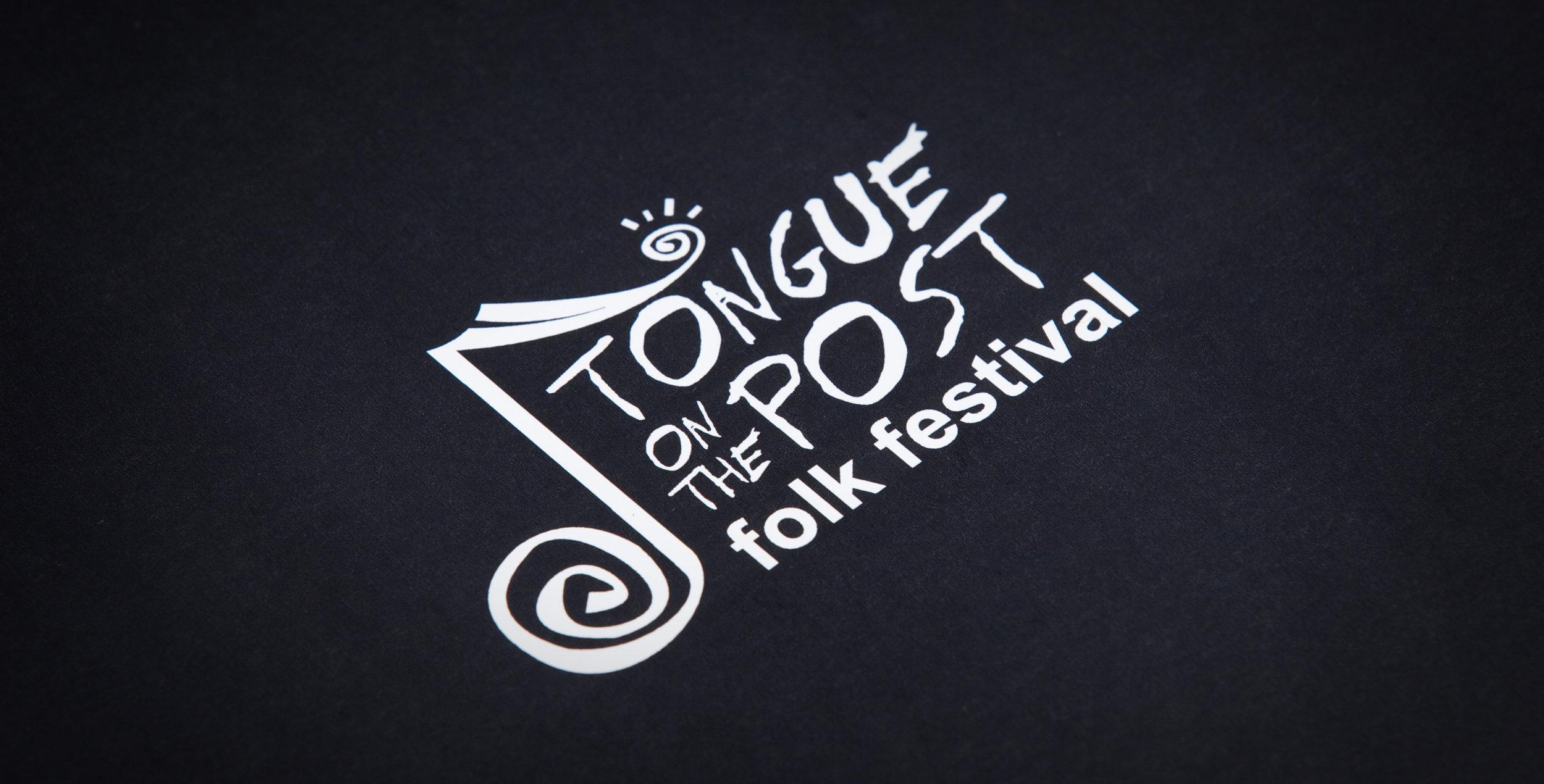 Original tongue on the post folk festival logo design - 2005