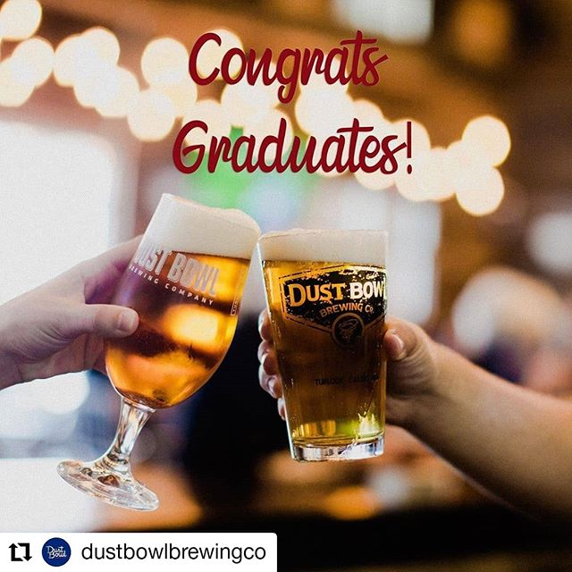 #Repost @dustbowlbrewingco • • • • • • Cheers to the Class of 2019! Reservations for our Brewery Taproom are filling up fast, but our outdoor BBQ will be up and running today through Sunday! Or just grab some beer to-go if you're grilling at home! 🎉🍻🎓 #DustBowlBrewing #CheersToBeers #Classof2019