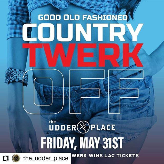 #Repost @the_udder_place • • • • • • 🎶Country Girls shake it for me 🎶 Still need your @katcountry103 LAC tickets? You'll have a chance to win them this Friday @the_udder_place! We will be hosting a good old fashioned Country Twerk Off! Judging at 12:30am, The best country twerk wins a pair of LAC TICKETS!!! . . #yeeehaaaw #countrytwerk #lac #katcountry #twerk #twerkcompetition #shakeitforme #theudderplace #downtown #209 #turlock #countrybar #livemusic #ladiesnight #friday #winnerwinner