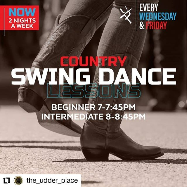 #Repost @the_udder_place • • • • • • Dust your boots off and head down to @the_udder_place for #countryswing lessons! Now offered on Wednesdays and Fridays! . Beginner: 7-8:45pm Intermediate: 8-8:45pm . $10 per person for one class $15 per person for both classes . #theudderplace #countrybar #dancelessons #happyhour #humpday #countrymusic #coldbeer #cocktails #downtown #turlock #209