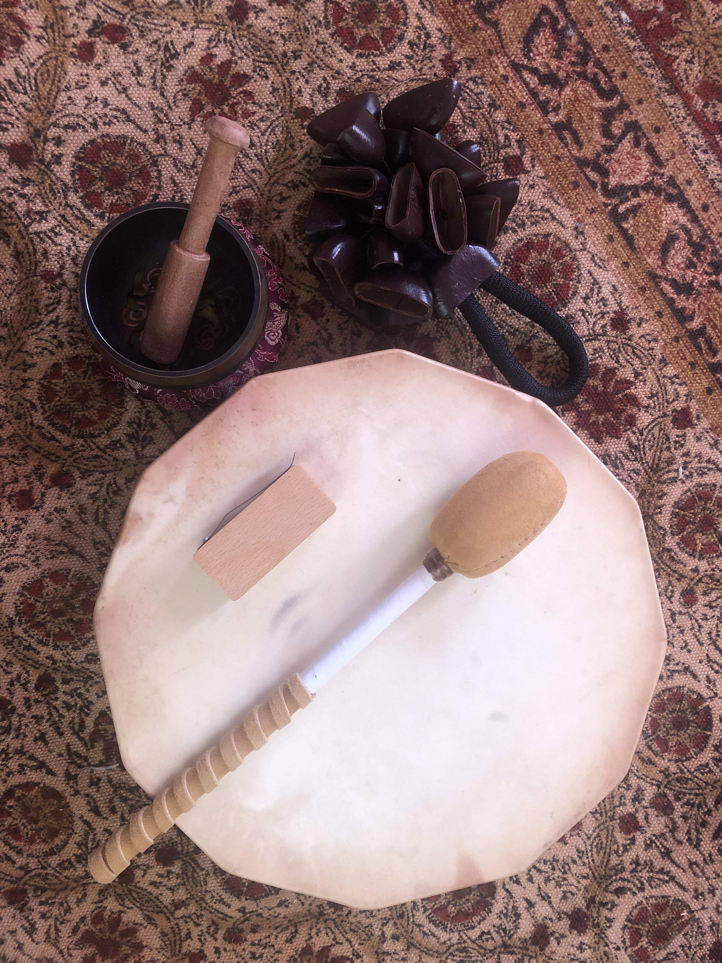 My current go-to instruments for my self-healing ceremonies