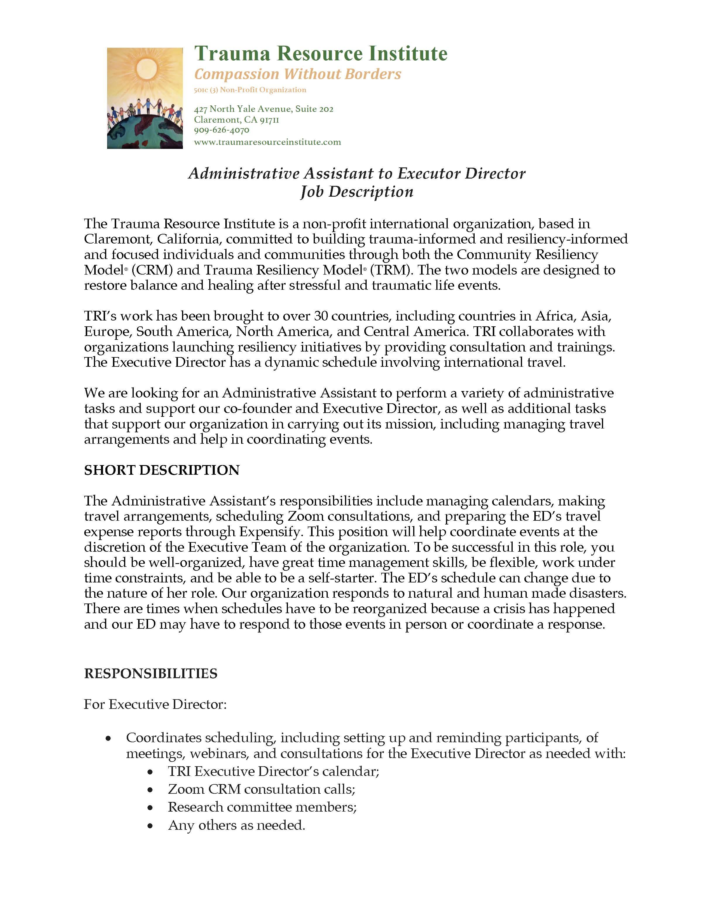 Click Here - for Job Description