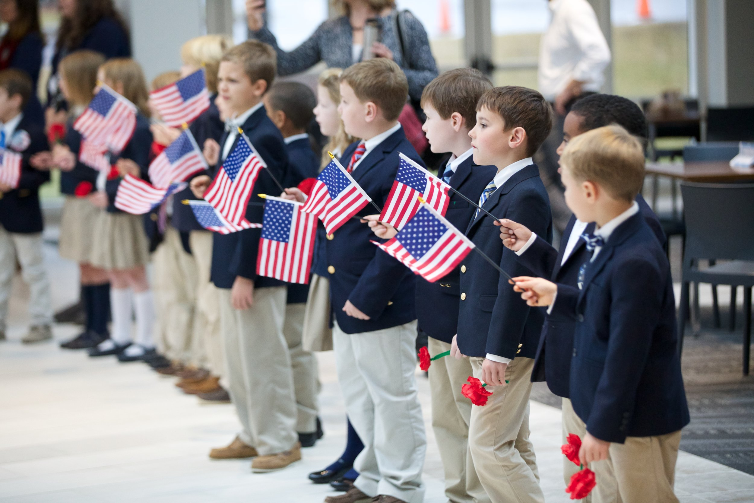 - the biggest thank you we can receive is to see children displaying Patriotism.