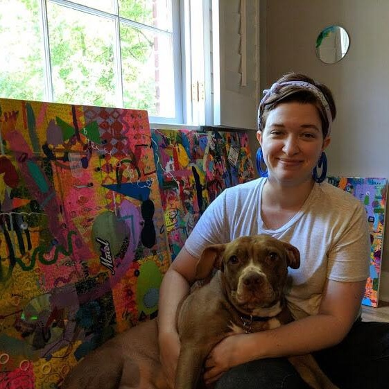 Pearl Bryant - Art Gallery Manager [She/Her] 💖 Pearl has volunteered with The Bakery since Fall of 2017. She manages and maintains the art gallery and balances the needs of the artists that use it. Pearl is a visual artist originally from the Gulf Coast. She earned her BFA in Studio Art with a focus in painting and drawing at Auburn University. Her current work explores themes of tediousness, excess, play, and reuse. pearl@thebakeryatlanta.com