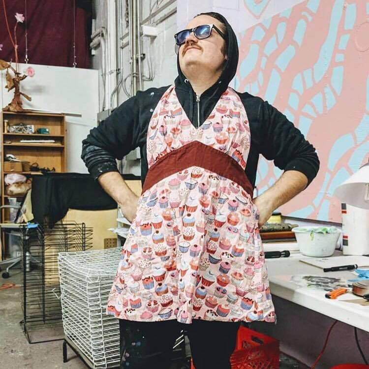 Aaron Artrip - Screen Printing Instructor [He/His] 💖 Aaron has a background in printmaking and music. He is currently working with Charles Schwab to oversee workshops in Bakie Makeyspace. He's finishing his Masters degree in Studio Art at Georgia State University where he is using his interest in sound to navigate a visual language from his mad scientist experiments with electricity and drawing. He's also an avid synth head, performing around Atlanta and providing educational programming via Atlanta Synth Club.