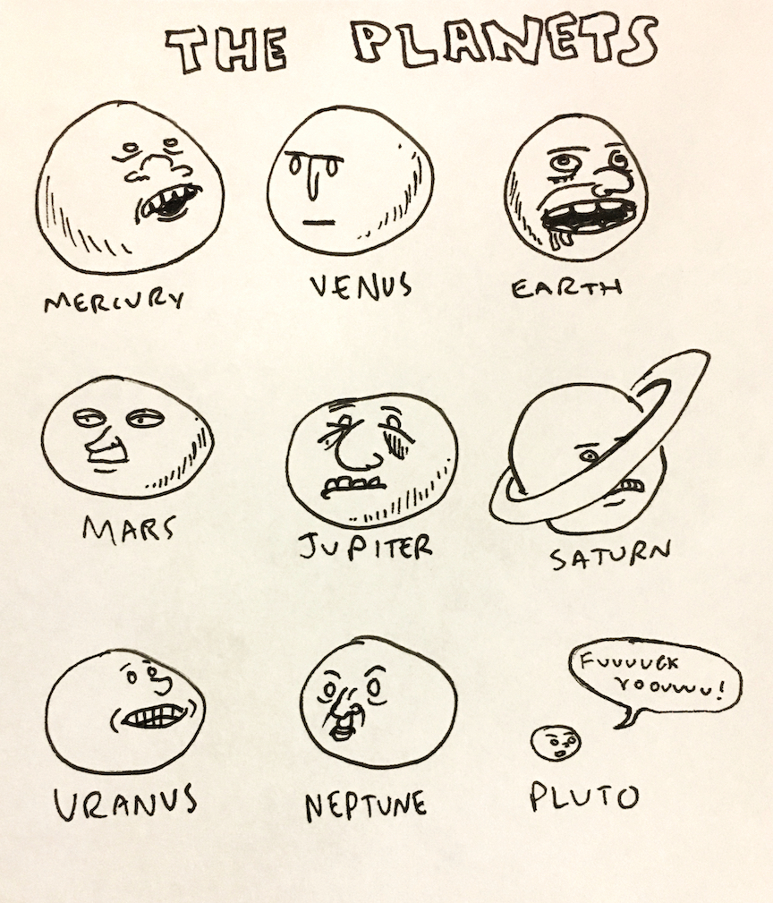 """""""The planets in our system"""""""