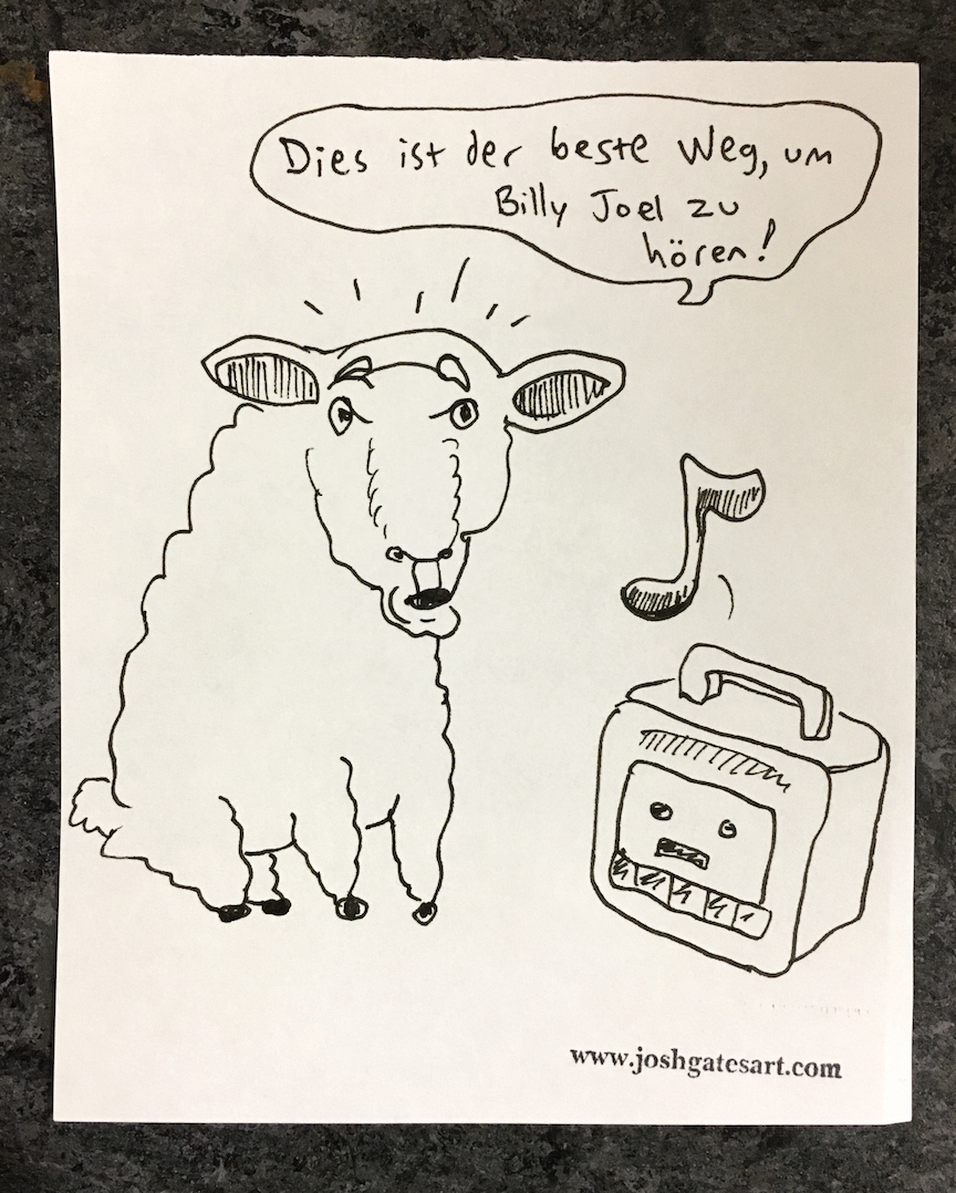"""""""A sheep listening to a cassette in Germany"""""""