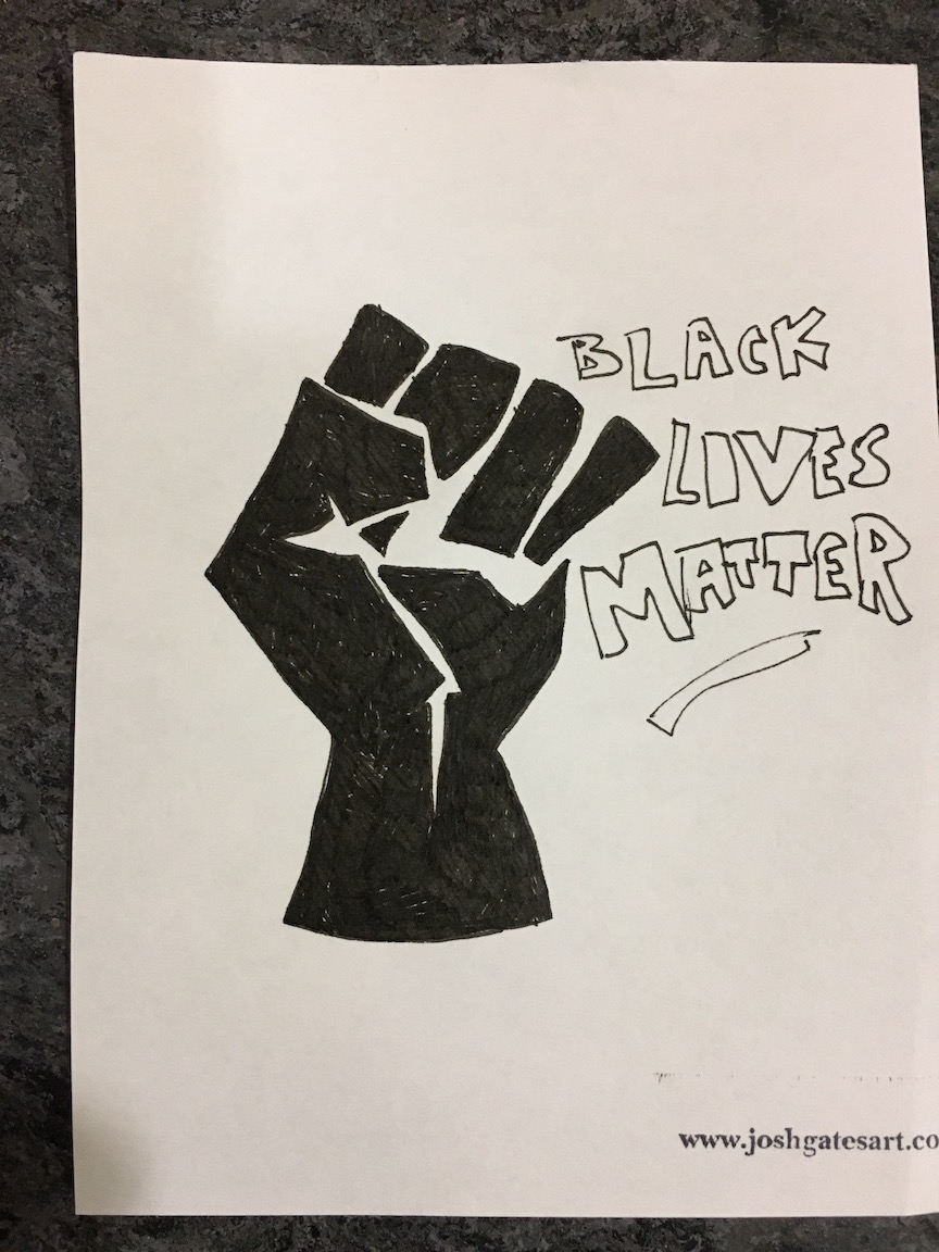 """""""A fist for resistance #BLM"""""""