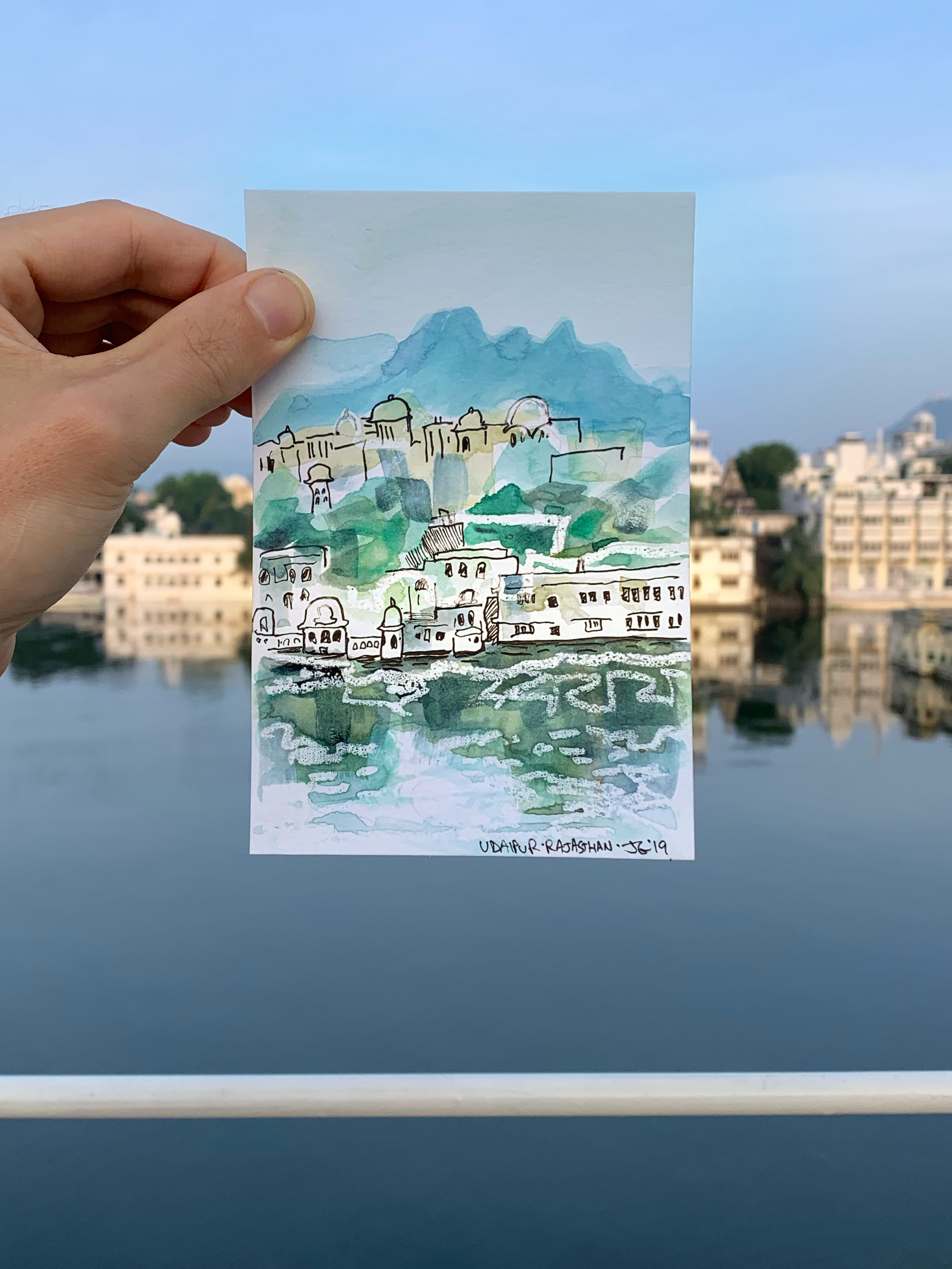 Udaipur reflected in Lake Pichola.