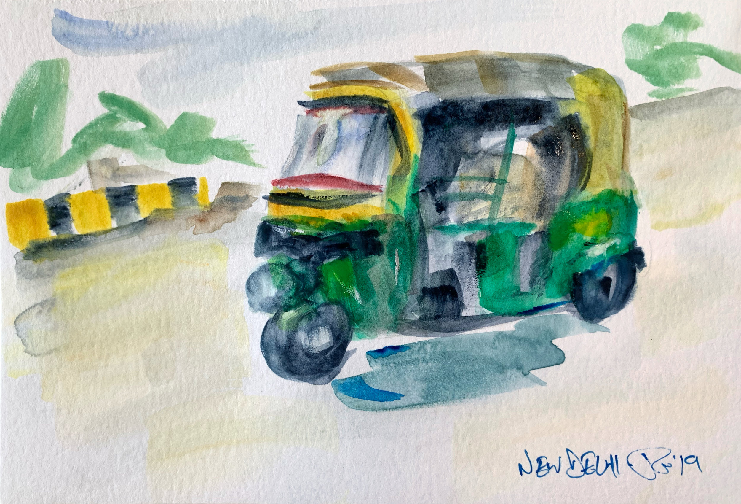 One of the ubiquitous tuktuks (auto-rickshaws) that are a fast and cheap form of transport around India's cities.