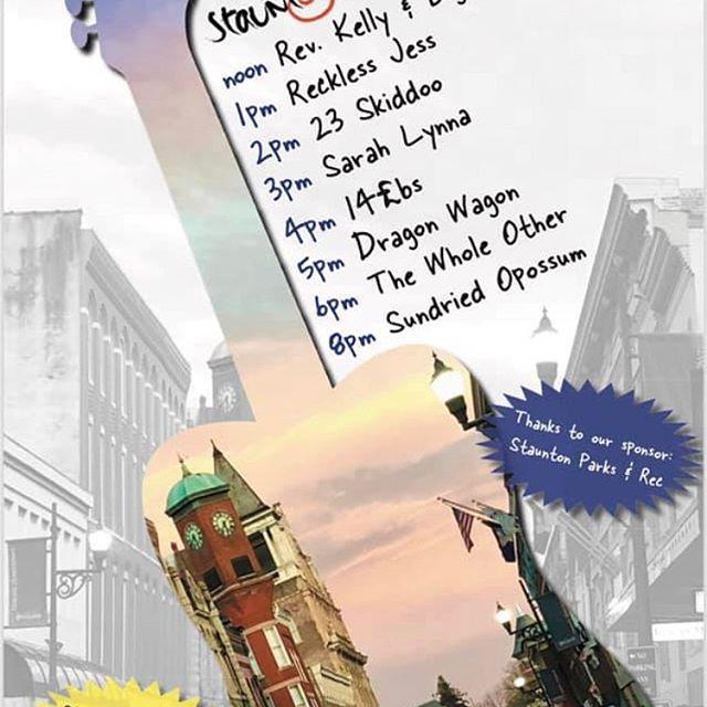 Next weekend 5/18 Staunton Jams. Dancin' in the street! We play at 8pm. #music #jamband #stauntonva