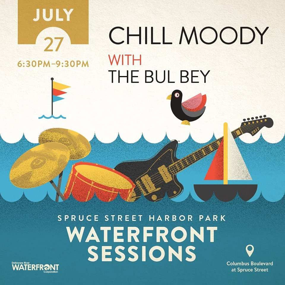 Thursday 7-27-17 - 6:30pm - 9:30pm Spruce Street Harbor Park Waterfront SessionsFREE -