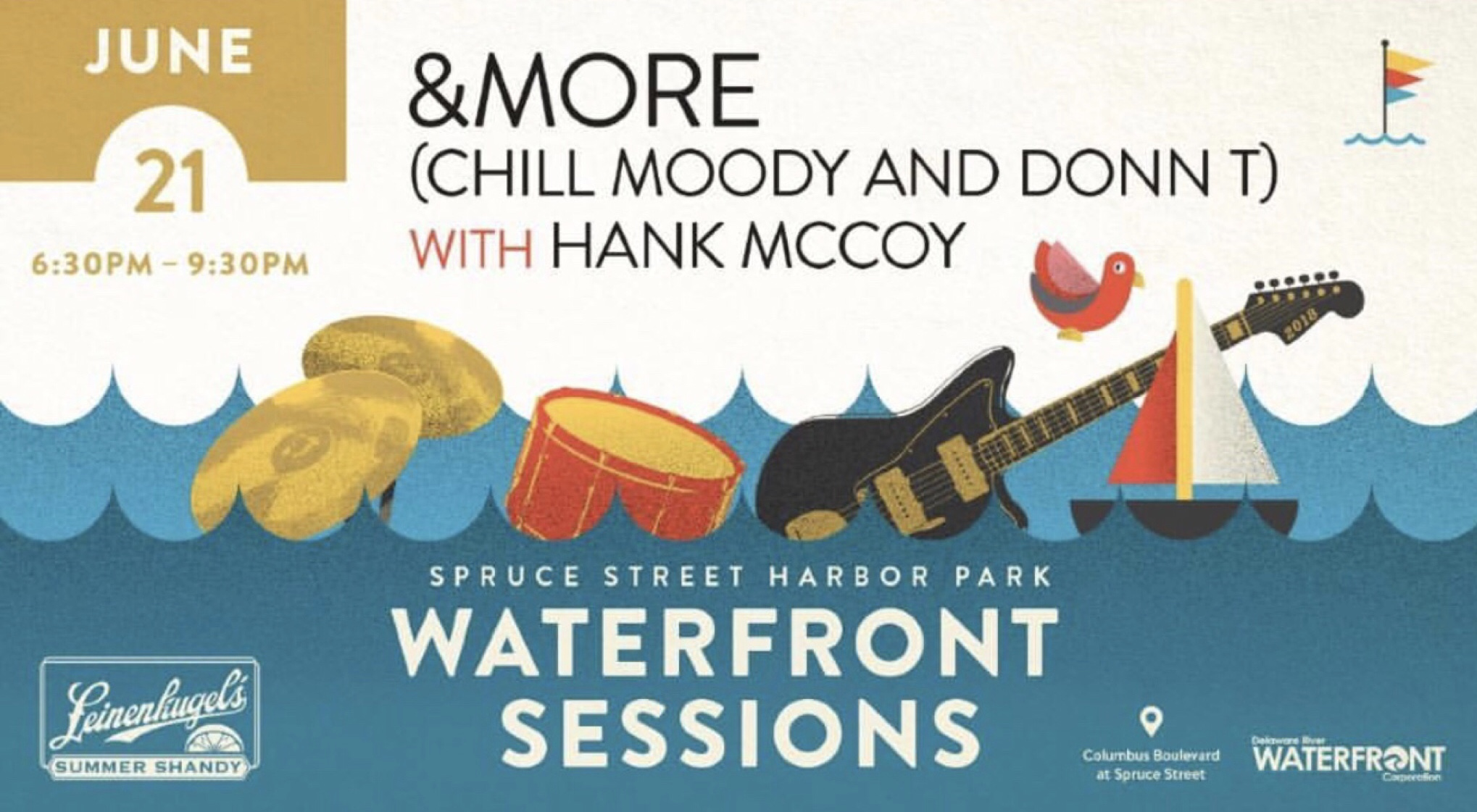 &More (Chill Moody & Donn T)with Hank McCoyFREE6/21/18Spruce Street Harbor Park -