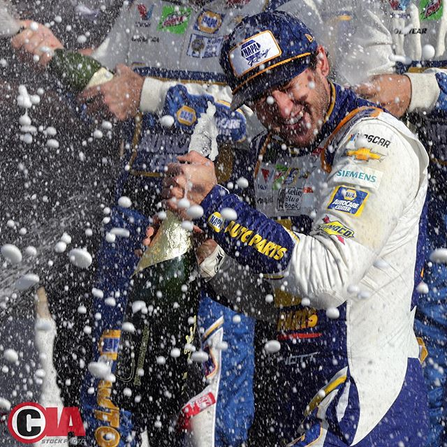 Watkins Glen 2019 - Things got a little out of control with the champagne for @chaseelliott9 in last weeks Victory Lane at @wgi1948 Photo:Chris Anderson/@CIAstockphoto