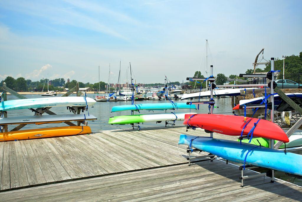 Kayak racks available for members