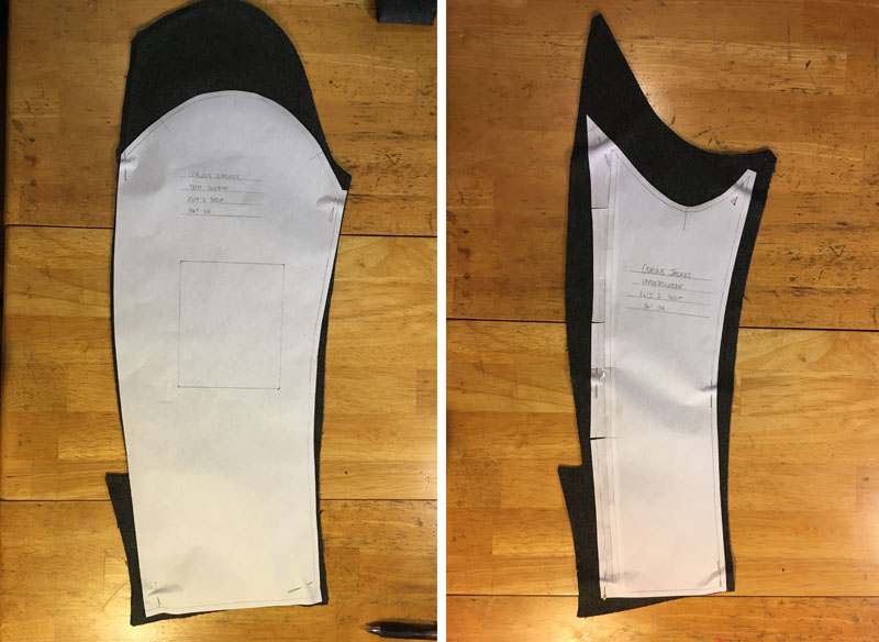 "Even with only 1/4"" seam allowances on the pattern pieces, the disassembled sleeves were  barely  large enough."