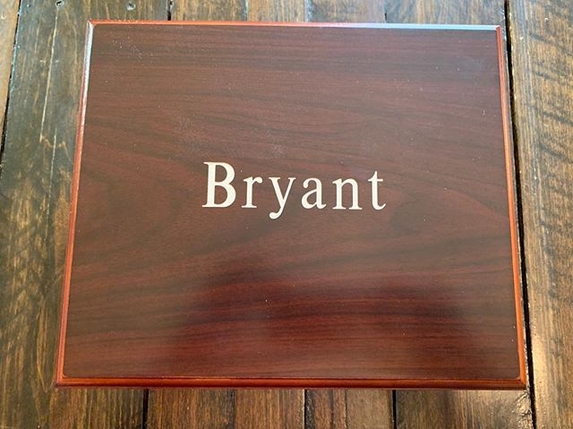 This cigar box etched beautifully. Great present for a 21st birthday.