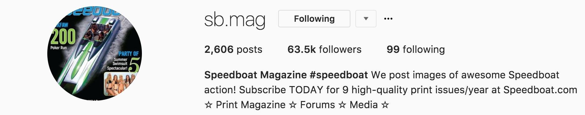 speedboat magazine instagram