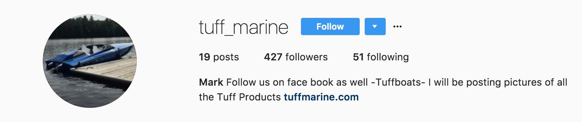 Tuff Marine Instagram