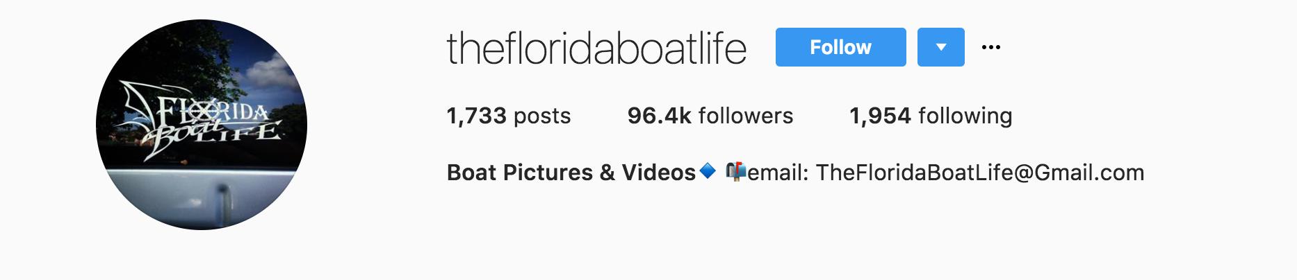 Florida Boatlife Instagram