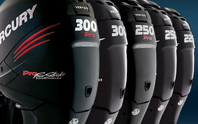 Verado - Innovative but heavy and slow. First forced induction outboard, integrated steering and digital controls.