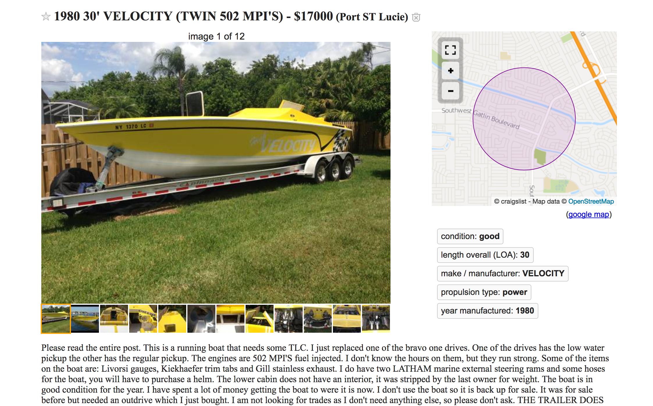 Velocity Boat