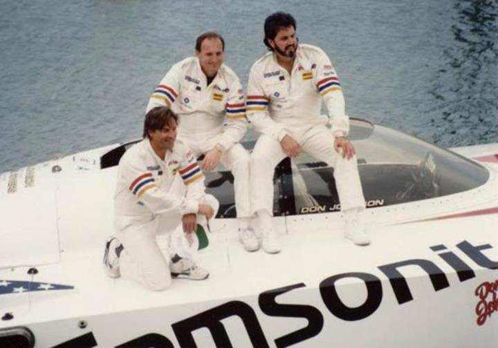 Champion - Don Johnson, race boat champion, actor.