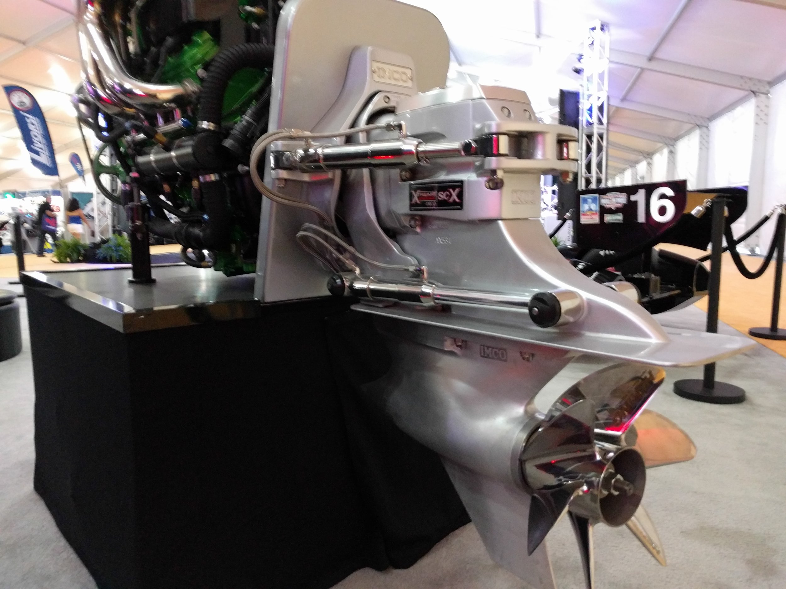 Power - Imco makes performance sterndrives with their hydraulic system. Mated to an Ilmor engine here.
