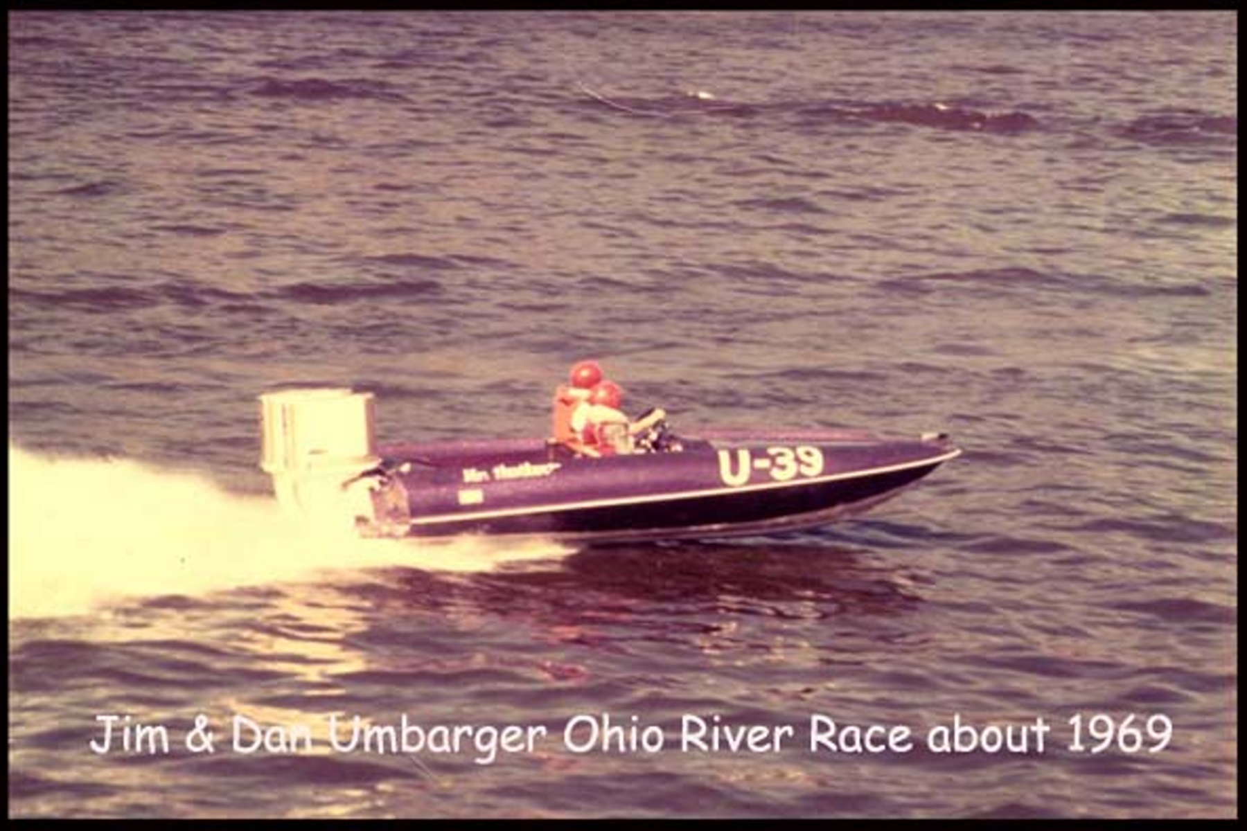 The original Victor race boat running twin Chrysler 105 engines. A national championship race boat and the catalyst for Hustler Sport Boats.