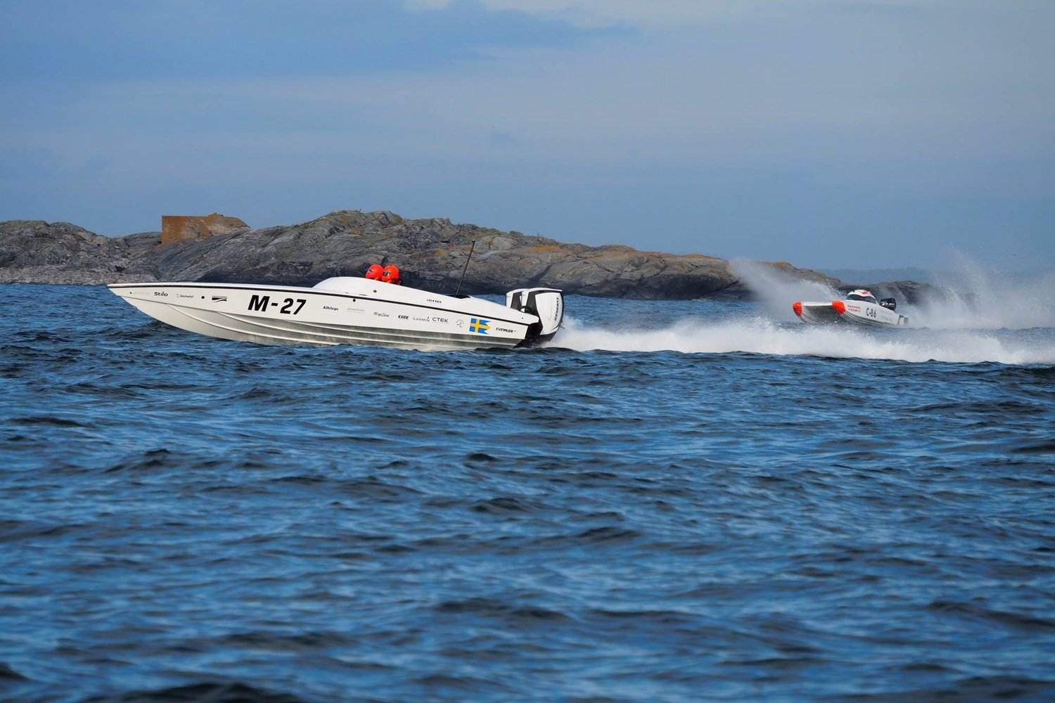 European racing has made builders push the limits on design. Nitra Boats has really taken design to a new level with the incredible performance of the new 29. Stock Evinrude G2s provide exceptional efficiency.