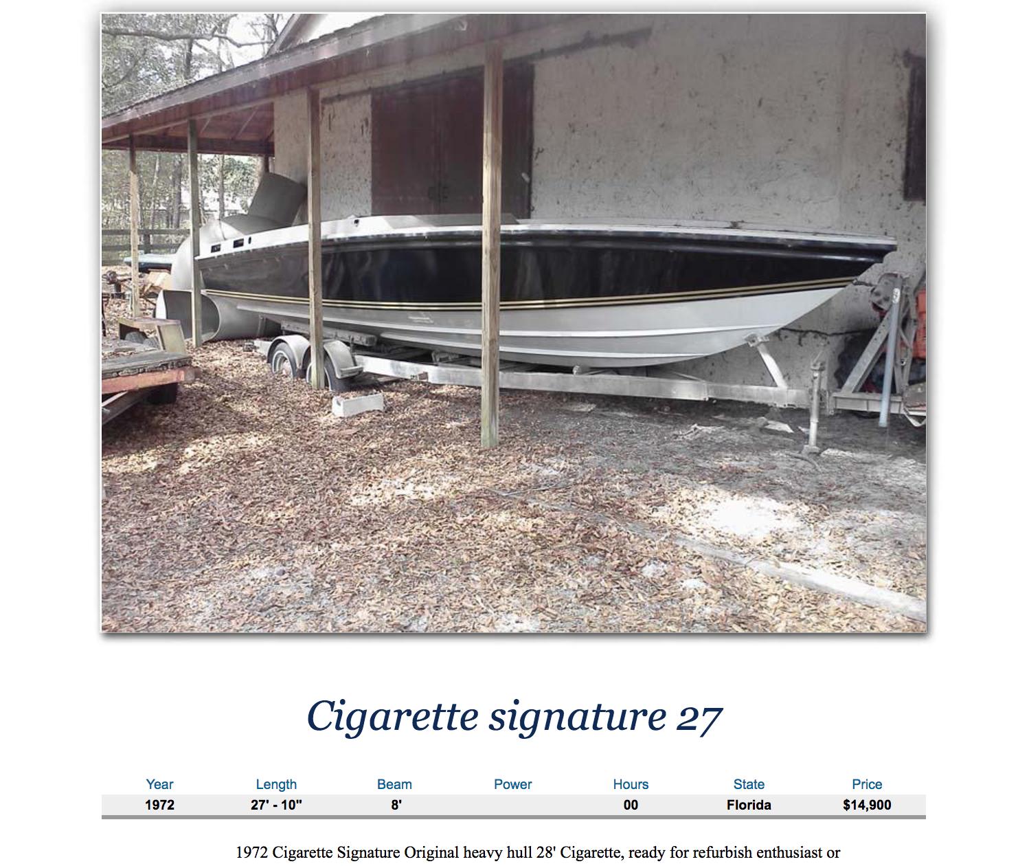 Cigarette 28 SS